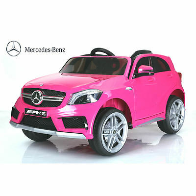 Licensed Mercedes A45 SUV 12v Kids Electric Ride on Car with Remote - Pink