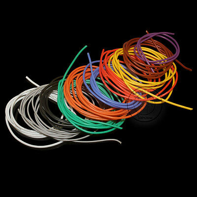 18~12AWG Flexible Silicone Wire RC Cable ROHS UL (Black/Red/Yellow/Blue/Green)