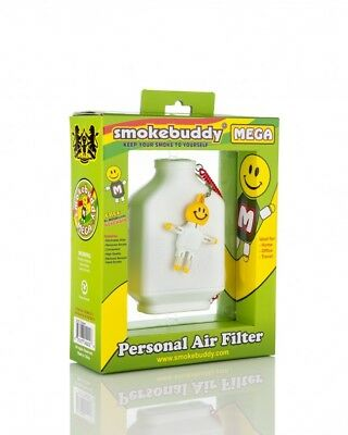 Smoke Buddy Mega Personal Air Filter White NEW