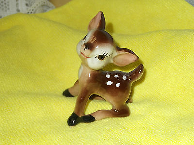 "Vintage Fine Bone China Porcelain Bambi/baby Fawn Deer Figurine 3""  Japan"