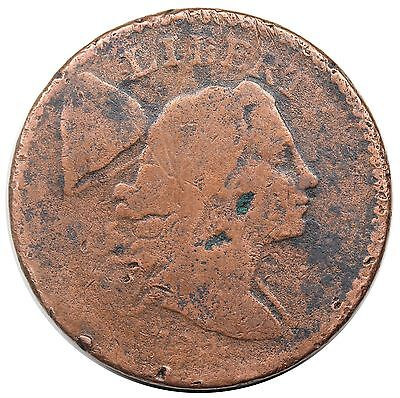 1794 Liberty Cap Large Cent, Head of '94, scarce S-47, R.4, AG detail