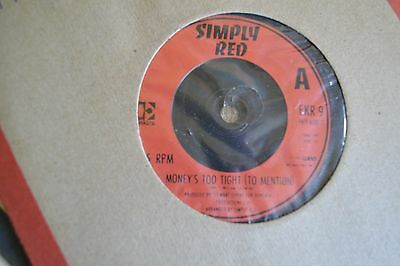 "Simply  Red           Moneys Too Tight To Mention         7"" Vinyl   Free Post"