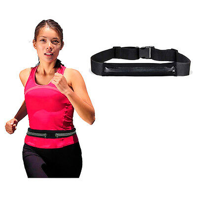 Runner Waist Belt Sport Pack Bum Bag Jogging Pouch Universal Expandable Pocket