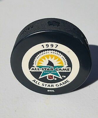 NHL San Jose Sharks All Star Game 1997 Official Game Puck