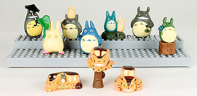 Anime Japan My Neighbor Totoro Set 10 Piece Mini Toy Figure Chu Totoro Chibi Cat