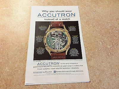 1962 Vintage Accutron watch Bulova Watch Co. Picture advertising AD