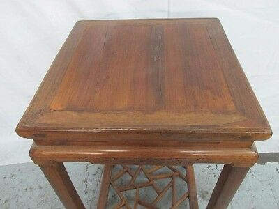 $$ REDUCED! 2 Antique Chinese Tables Canton Suzhou Carved Jumu Wood Qing Dynasty