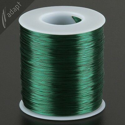Magnet Wire, Enameled Copper, Green, 26 AWG (gauge), HPN, 155C, 1 lb, 1300 ft