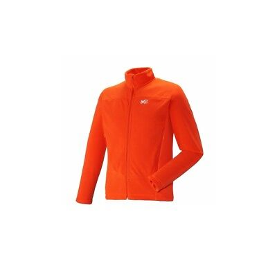 Polaire Millet Vector Grid Jacket Bright Orange