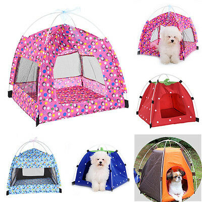 Outdoor Foldable Pet Tent Dog Bed House Waterproof Pet Summer Durable Tent house