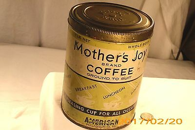 Vtg Mother's Joy Coffee Can;approx 5 1/2'' High