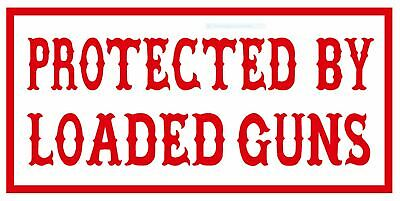 """HELLS ANGELS Support 81 Sticker Aufkleber """"PROTECTED BY LOADED GUNS"""""""
