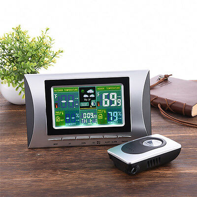Digital Wireless Sensor Weather Station Forecast Indoor/Outdoor Thermometer