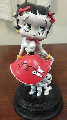 2007 Betty Boop 6 in tall figure with poodle skirt & jukebox & puppy