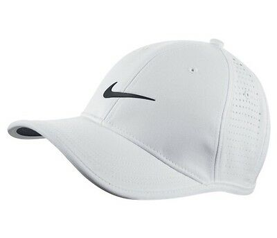 a3ca4c42d5b49 Nike Ultralight Tour Perforated Cap Dri-Fit Technology White Black 727034 -100