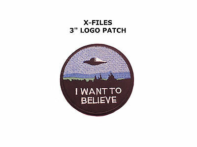 "Application X-Files ""I Want to Believe"" Embroidered Sew/Iron-on Patch"