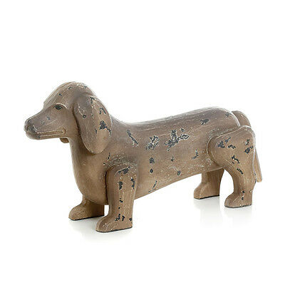Antique Painted Finish Dachshund Dog Foyer, Home Accent Decor 10079