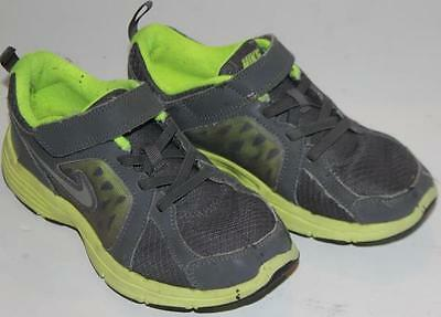 Nike Boy's Shoes Athletic Sneakers Velcro Gray Green Size 1Y