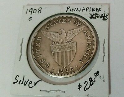 1908s US-Philippines 1 Peso Silver Coin