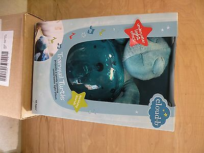 Cloud-B Tranquil Turtle Night Light With Underwater Light Effect New In Box