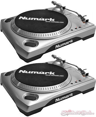 Pair of Numark TTUSB - Belt-drive Battle and Club DJ Turntables with USB Output