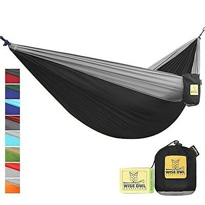 NEW Camping Hammock By Wise Owl Outfitters Single & Double Size - 100% Guarantee