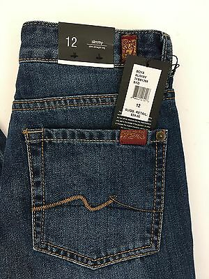 7 For All Mankind New Boys` Slimmy Jeans Slim Straight Leg Size 12 Msrp $59
