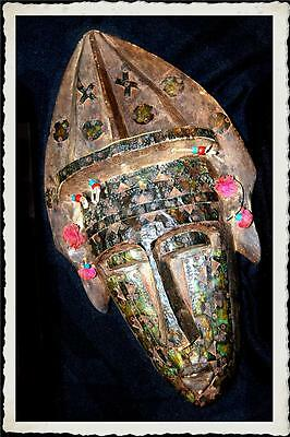 Tibetan   Bon  Mask...Very Old...Large...From  Nepal/Tibet...18th/19th Century