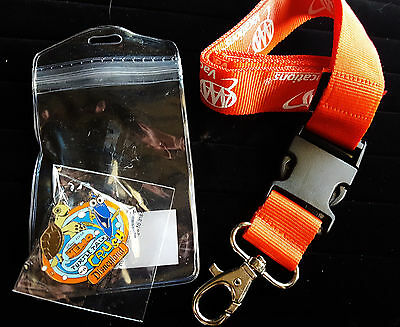 Disney AAA Vacations Lanyard With Turtle Talk Crush #2 Finding Nemo Dory Pin