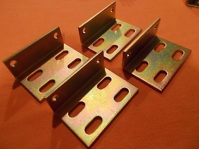 Heavy Duty Steel Right Angle Brackets--- Plated---(Lot of 4)
