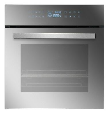 """24"""" Tempered Glass LED Touch Controls Electric Built-in Single Wall Ovens 220V"""