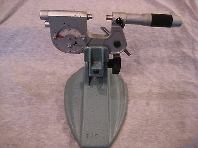 etalon 1 inch indicating micrometer .0001 reading with stand