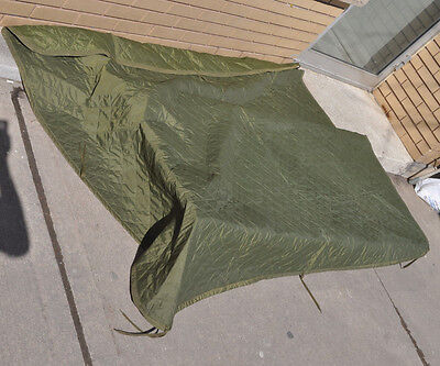 Wet Weather Poncho Liner OD Green Genuine Canadian Forces Army Issue