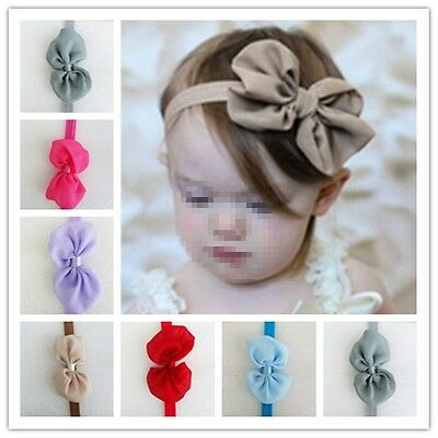 10pcs  Grosgrain Kids Girl Toddler Princess Headband Hair Bow Band Accessories