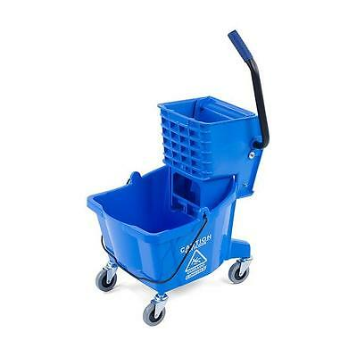 Carlisle 3690814 Mop Bucket with Side Press Wringer 26 Quart Blue