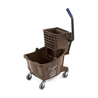 Carlisle 3690869 Mop Bucket with Side Press Wringer 26 Quart Brown
