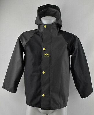 Kids Helly Hansen Hooded Raincoat Jacket Protected Coated Size 134 cm 9 years