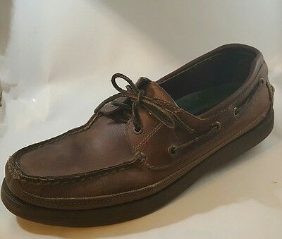 SPERRY TOP-SIDER Leather 0764027 Non-Marking Brown Size 10.5M Boat Shoes