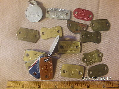 Huge Lot of Vintage Somerset  Blair County Pa Dog Tags Licenses
