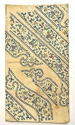 Late 19C Chinese Silk Embroidery Panel Large Pillow Case Crane