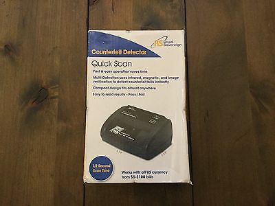 Counterfeit  Currency Detector Brand New Royal Sovereign RCD-2120 Quick Scan