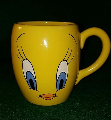 Tweety Bird Face Coffee Mug Cup Large 18 oz 1999 Warner Bros Studio Store