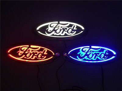 5D LED Car Logo Light Auto Badge Rear Emblems Lamp For Ford Focus Mondeo Kuga