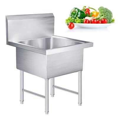 """Commercial Stainless Steel Kitchen Prep Utility Laundry Sink - 30"""" wide"""