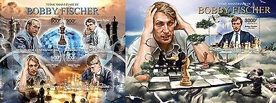 CA13210ab Central África 2013 Bobby Fischer MNH JUEGO
