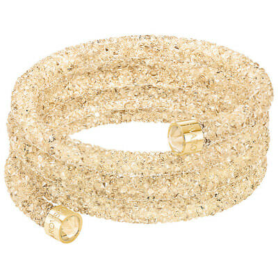 NEW Swarovski Crystaldust Gold Wide Bangle