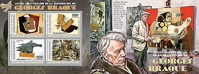 CA13224ab Central África 2013 Georges Braque MNH JUEGO