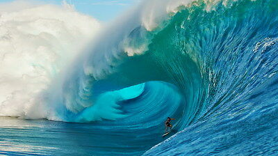 "009 GIANT WAVE - Sea Surfing 24""x14"" Poster"