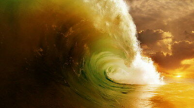 "006 GIANT WAVE - Sea Surfing 24""x14"" Poster"