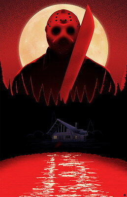"""001 Friday The 13th - USA Classic Horror Thriller Movie 14""""x21"""" Poster"""